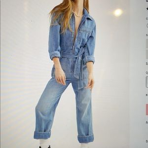 Free People Charlie Coveralls size 0 worn once